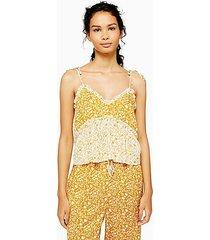 ochre mixed floral print pajama cami - ochre
