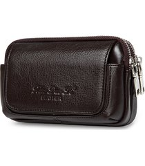 solido vera pelle vita borsa crossbody borsa grande capacità telefono borsa per gli uomini