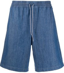 a.p.c. drawstring denim shorts - blue