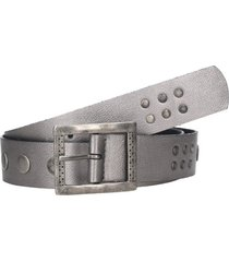 cinturón cuero soft gris zappa