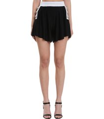 balmain shorts in black viscose