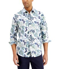 tasso elba men's ciratto floral-print cotton shirt, created for macy's