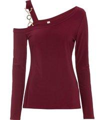maglia a maniche lunghe con fibbia (rosso) - bodyflirt boutique