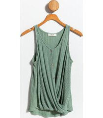 leigh twist front sweater tank - forest