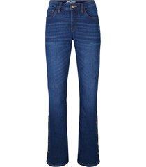 jeans elasticizzati bootcut con bottoni (blu) - john baner jeanswear