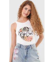 regata rip curl saltwater culture filter off-white - off white - feminino - dafiti