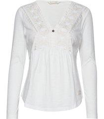 curious blouse blouse lange mouwen wit odd molly