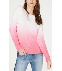 inc cotton dip-dye pullover sweater, created for macy's