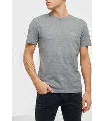 calvin klein cotton chest logo t-shirt t-shirts & linnen grey