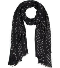 kate spade new york women's pin dot stripe oblong scarf