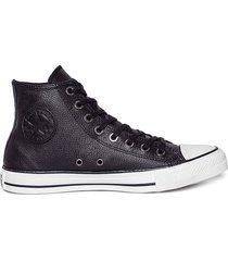 zapatilla negra converse all star leather hi