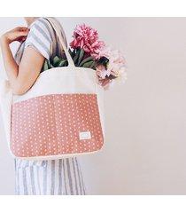 torba na zakupy z kieszeniami różowa