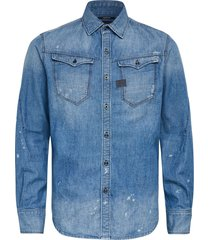 g-star arc 3d slim shirt ls blue denim