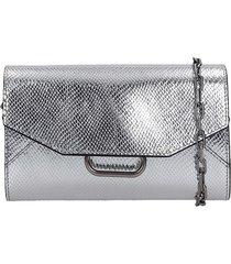 isabel marant kyloe shoulder bag in silver leather