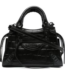 balenciaga neo classic city leather tote bag - black