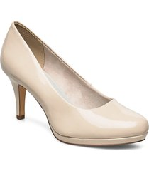 woms court shoe shoes heels pumps classic creme tamaris