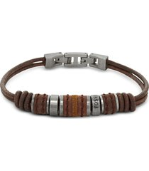 fossil designer men's bracelets, rondell leather men's bracelet