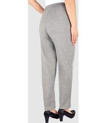 mjuka byxor med midjeresår dress in grå