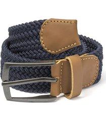 cinturón trenzado azul turquí h doshka