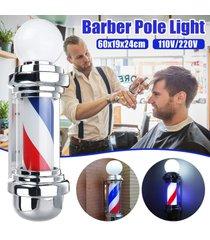 60cm grande polo barbero azul rojo del salón de pelo de luz led blanco raya giratoria sesión - 220v
