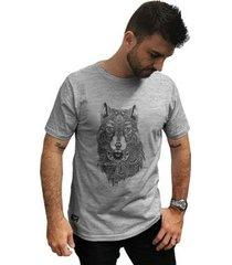 camiseta cellos abstract wolf premium masculina - masculino