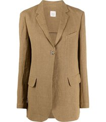 alysi classic tailored blazer - brown