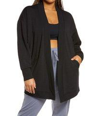 plus size women's zella peaceful fleece cardigan