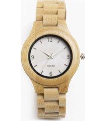 reloj madera bambú beige millam
