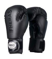 luva boxe muay thai fheras line top black in black