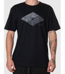 camiseta rip curl icon diamond tee preta masculina