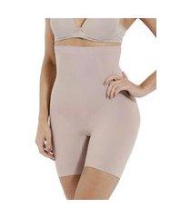 shorts cintura alta levanta bumbum e quadril lisa modelador – bege