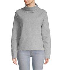 cotton-blend turtleneck sweatshirt