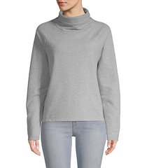 cotton-blend turtleneck sweatshirt