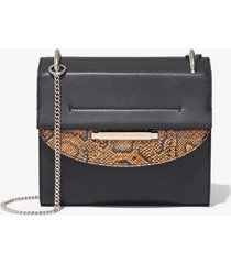 proenza schouler elaphe medium delta bag black/saffron one size