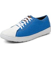 sapatênis masculino sandro moscoloni canvas street azul