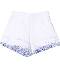 monnalisa white and light blue shorts
