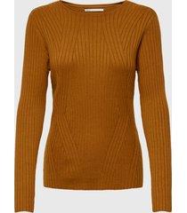 sweater only naranjo - calce ajustado
