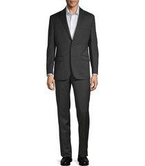 lauren ralph lauren men's classic fit wool pinstripe suit - black - size 50 l