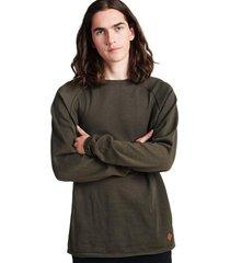 sweater basico cuello casual verde sioux