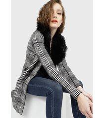 chaqueta wados escoces negro - calce regular