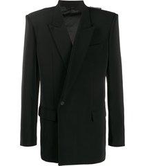 balenciaga '80s structured shoulder jacket - neutrals
