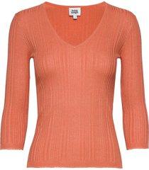 sabina knitted tee t-shirts & tops knitted t-shirts/tops orange twist & tango