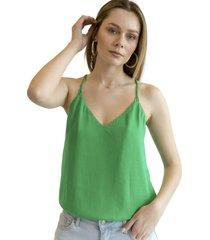blusa daisy verde racaventura