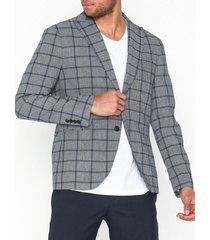 selected homme slhslim-nik check blazer b kavajer & kostymer grå
