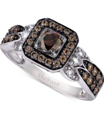 le vian chocolate and vanilla diamond ring (3/4 ct. t.w.) in 14k white gold