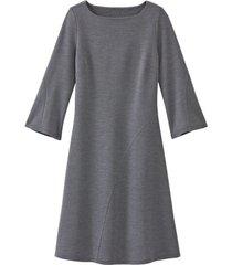 wollen jersey jurk met bio-merinowol, anthrazit 40