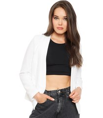 blazer ash textura blanco - calce regular