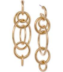 laundry by shelli segal gold-tone multi-link statement earrings