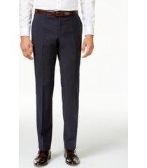 hugo men's navy slim-fit pants