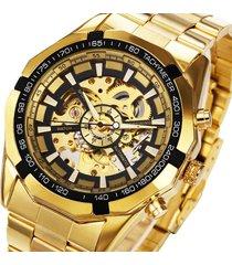 reloj automatico winner 246 skeleton - dorado